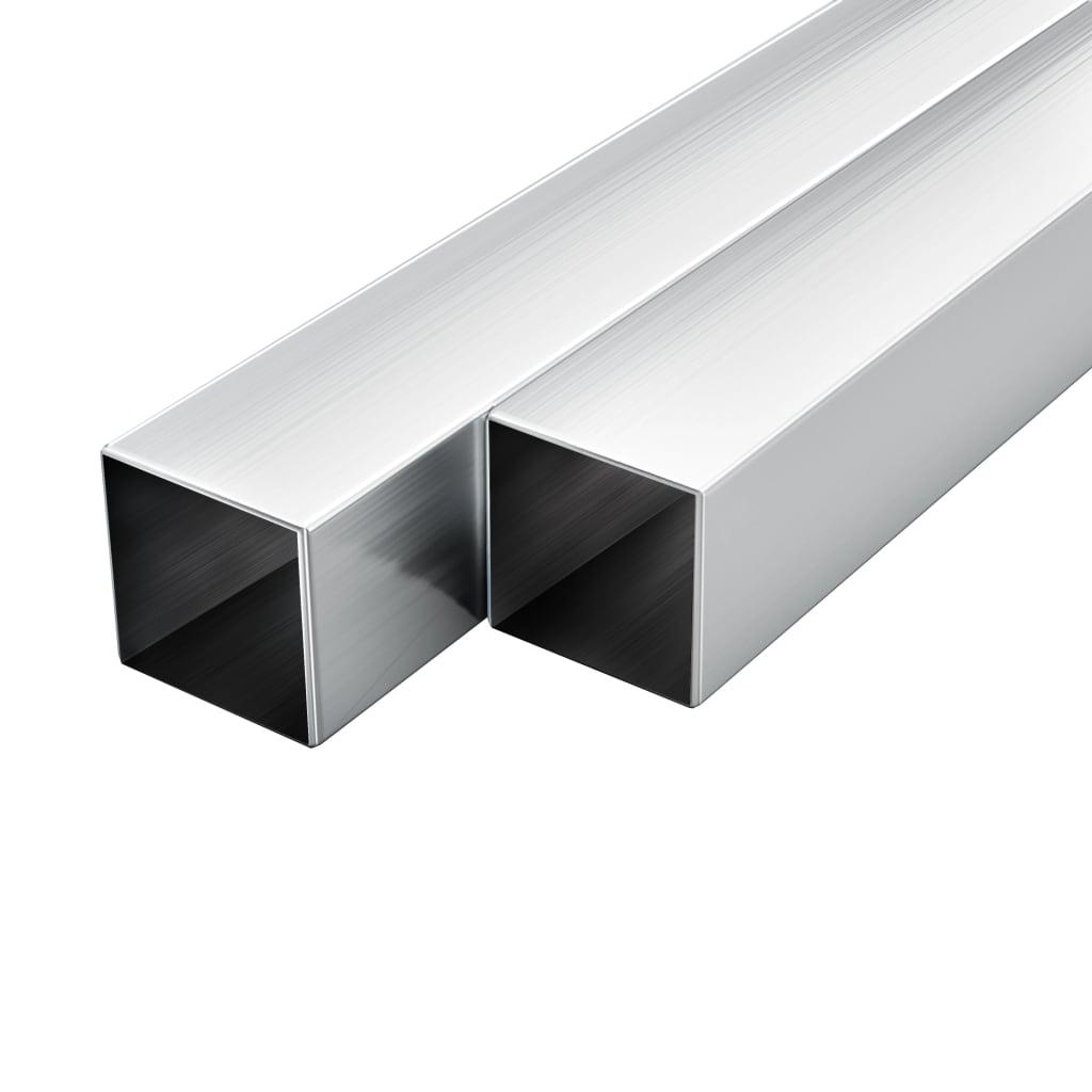 vidaXL Stavebné hliníkové rúry 6 ks 2m 20x20x2mm štvorcové joklové
