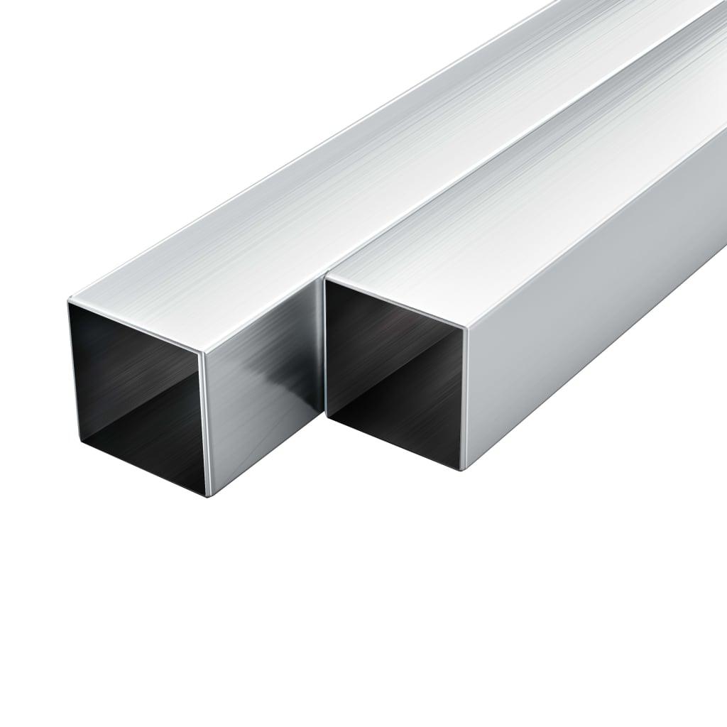 vidaXL Stavebné hliníkové rúry 6 ks 2m 25x25x2mm štvorcové joklové