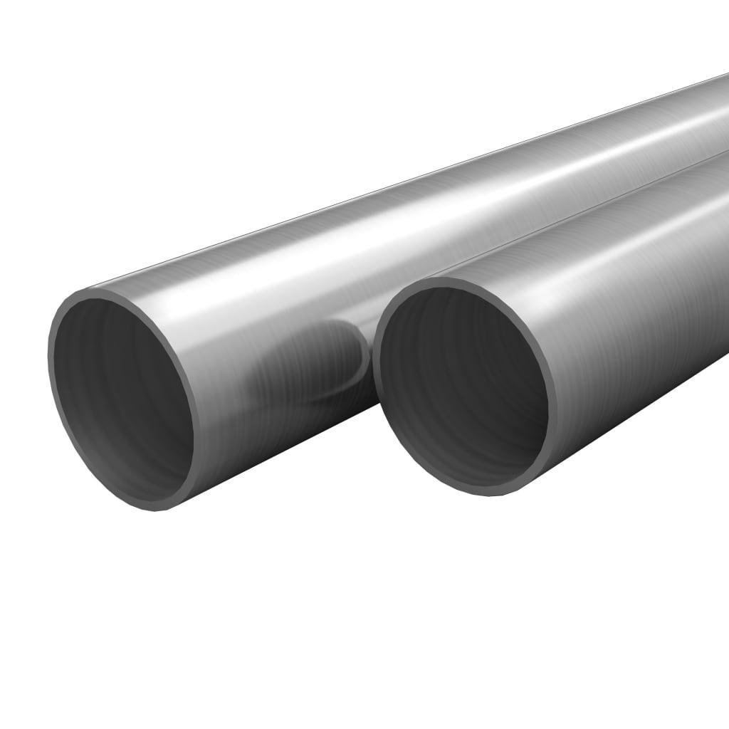 vidaXL Rúry z nehrdzavejúcej ocele okrúhle 2 ks V2A 2m Ø70x1,8mm