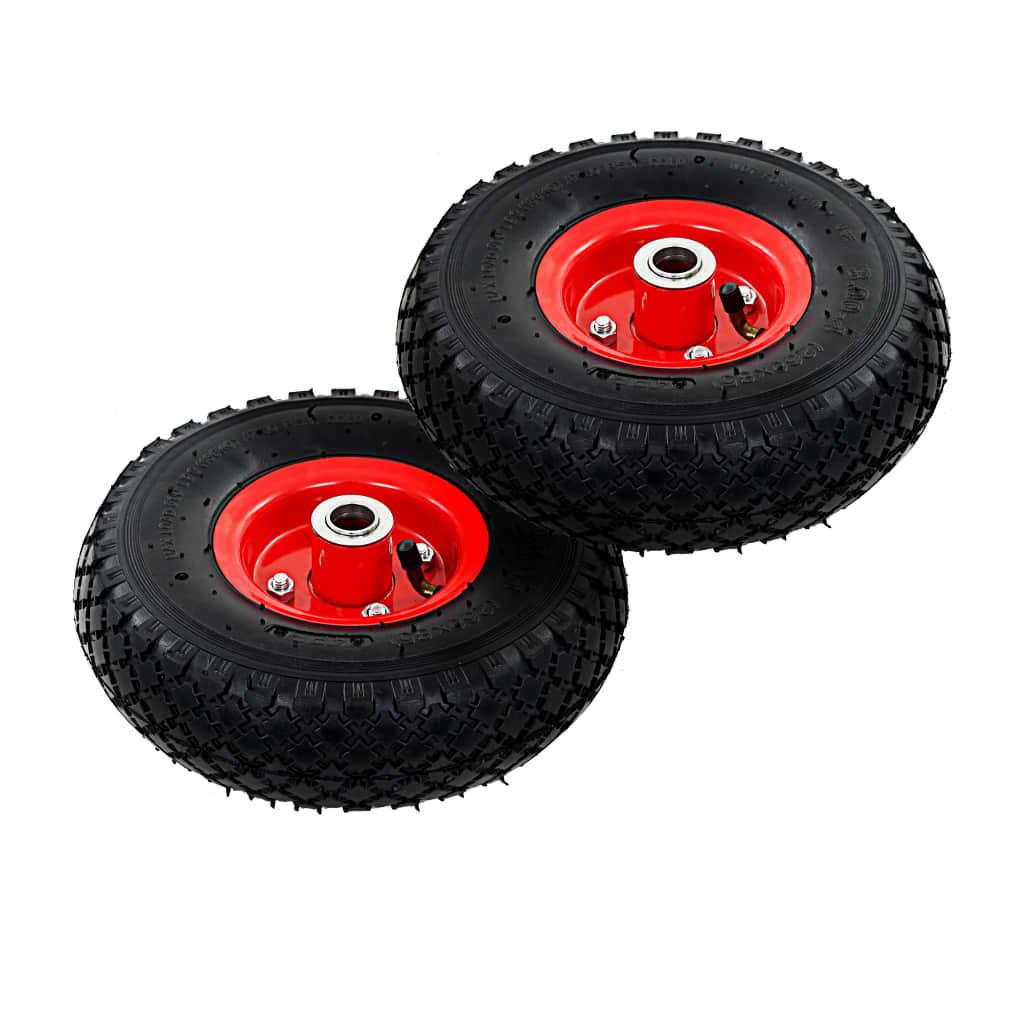 vidaXL Kolesá na nakladací vozík 2 ks gumené 3.00-4 (260x85)