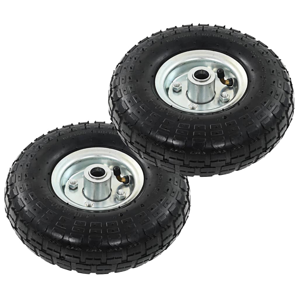 vidaXL Kolesá nakladacieho vozíka 2 ks gumené 4,10/3,50-4 (260x83)