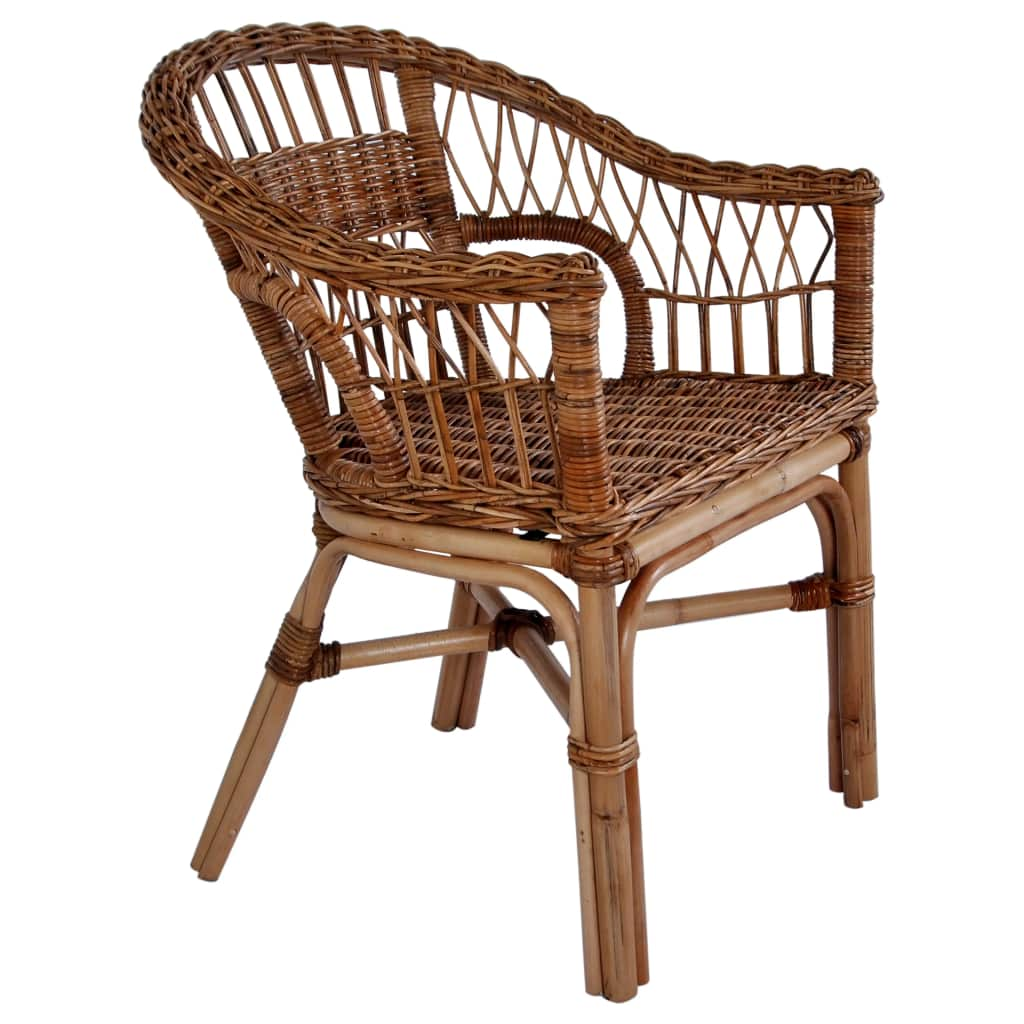 9eb742a580f83 vidaXL Vonkajšia jedálenská stolička z prírodného ratanu hnedá