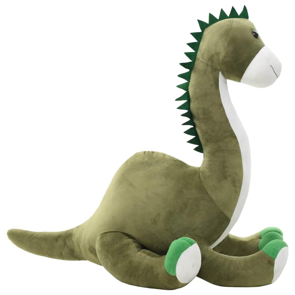 vidaXL Hračka dinosaurus Brontosaurus zelený plyšový