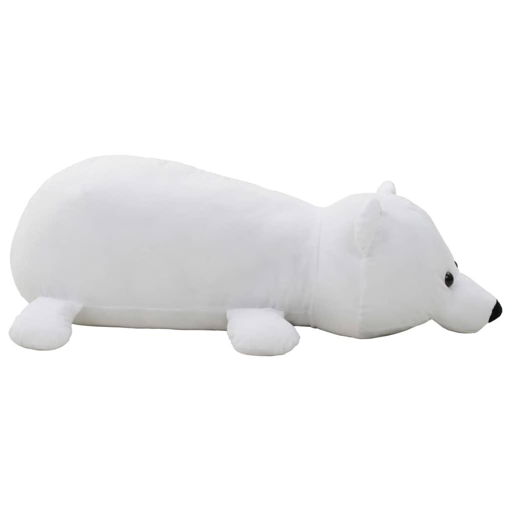 vidaXL Hračka plyšový polárny medveď biely