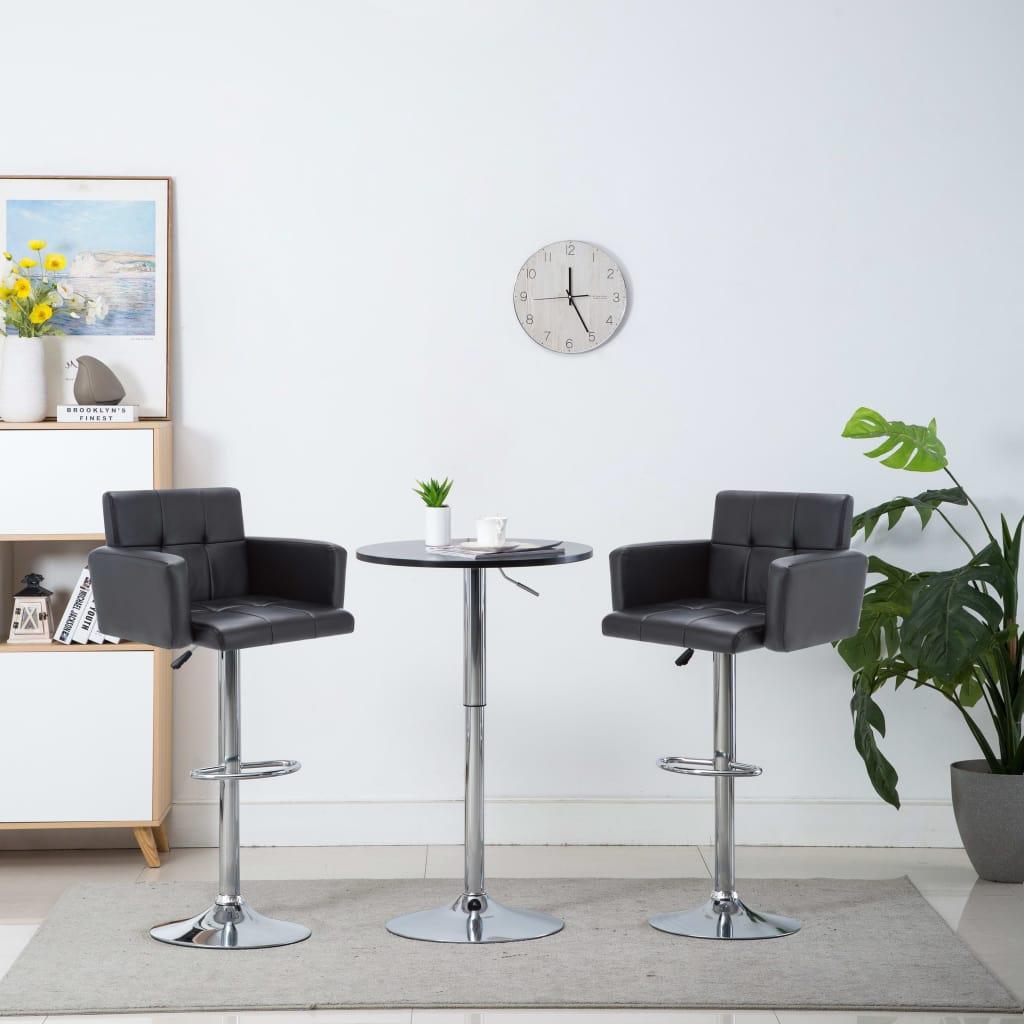 vidaXL Otočné barové stoličky z umelej kože 2 ks 61x54x112 cm čierne