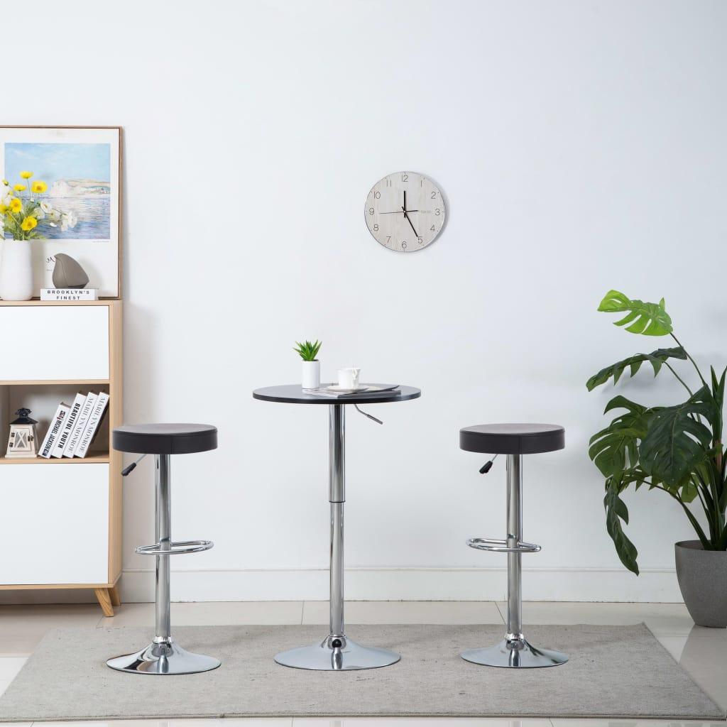 vidaXL Otočné barové stoličky 2 ks, umelá koža 39x39x82 cm, čierne