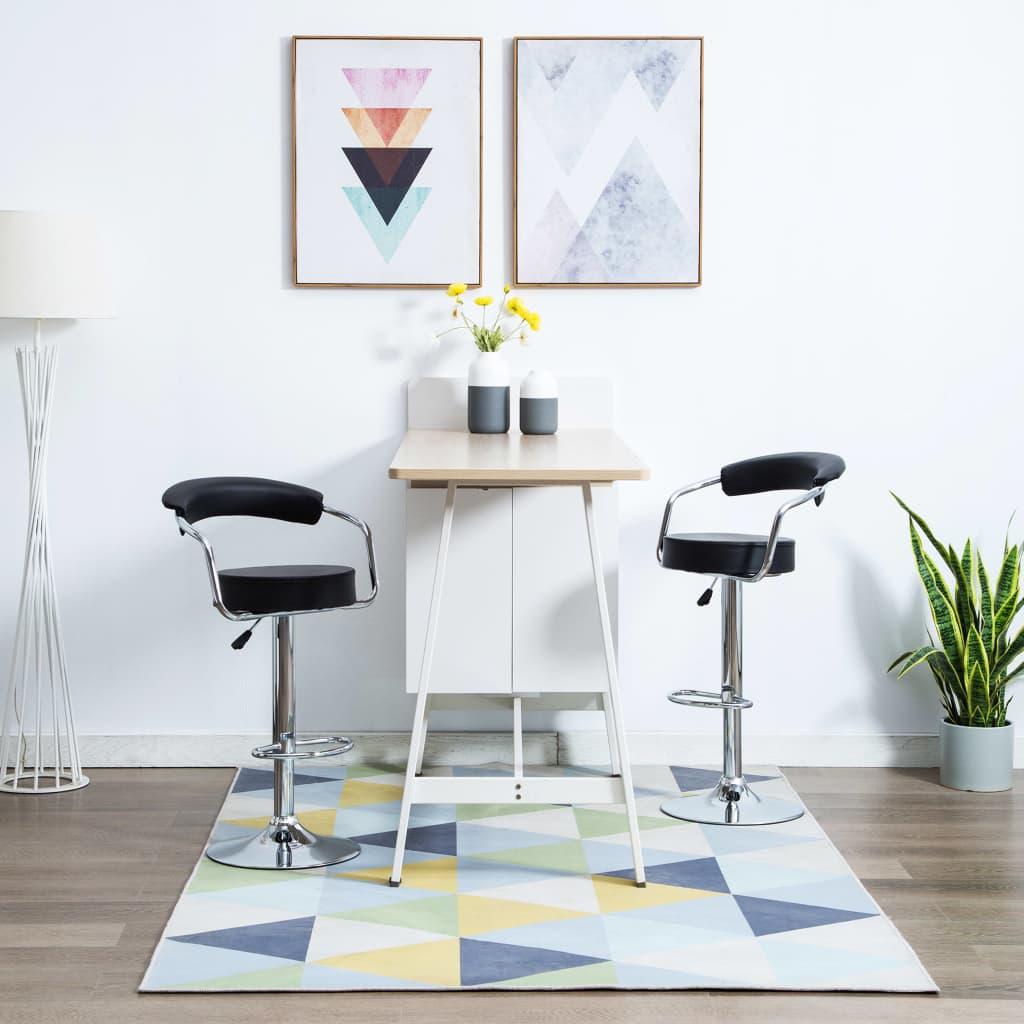 vidaXL Otočné barové stoličky z umelej kože 2 ks 52x51x106 cm čierne