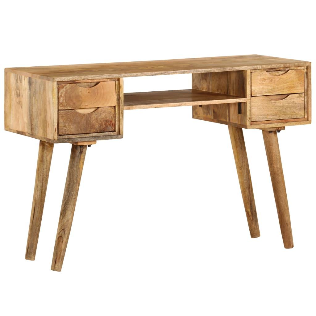 vidaXL Písací stôl z masívneho mangovníkového dreva 115x47x76 cm