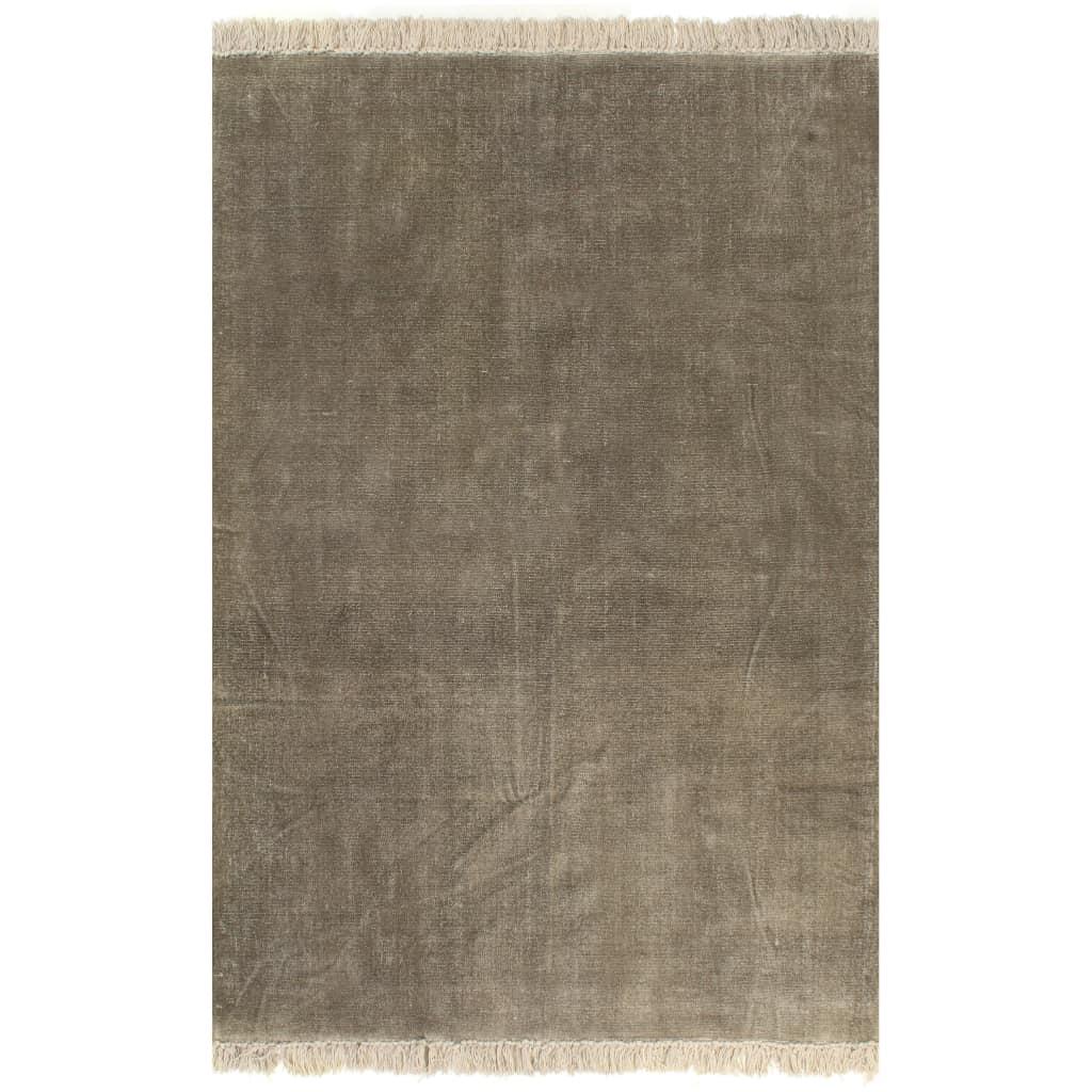 vidaXL Kilim Koberec z bavlny 120x180 cm sivo-hnedý