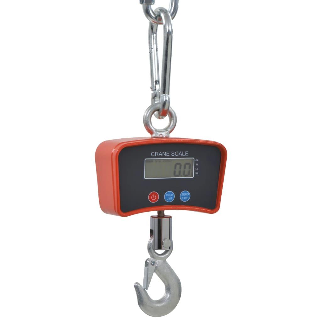 vidaXL Elektronické závesné váhy 300 kg