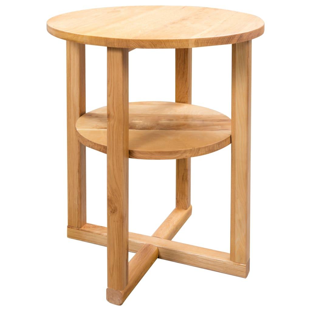 vidaXL Príručný stolík z dubového dreva 40x50 cm
