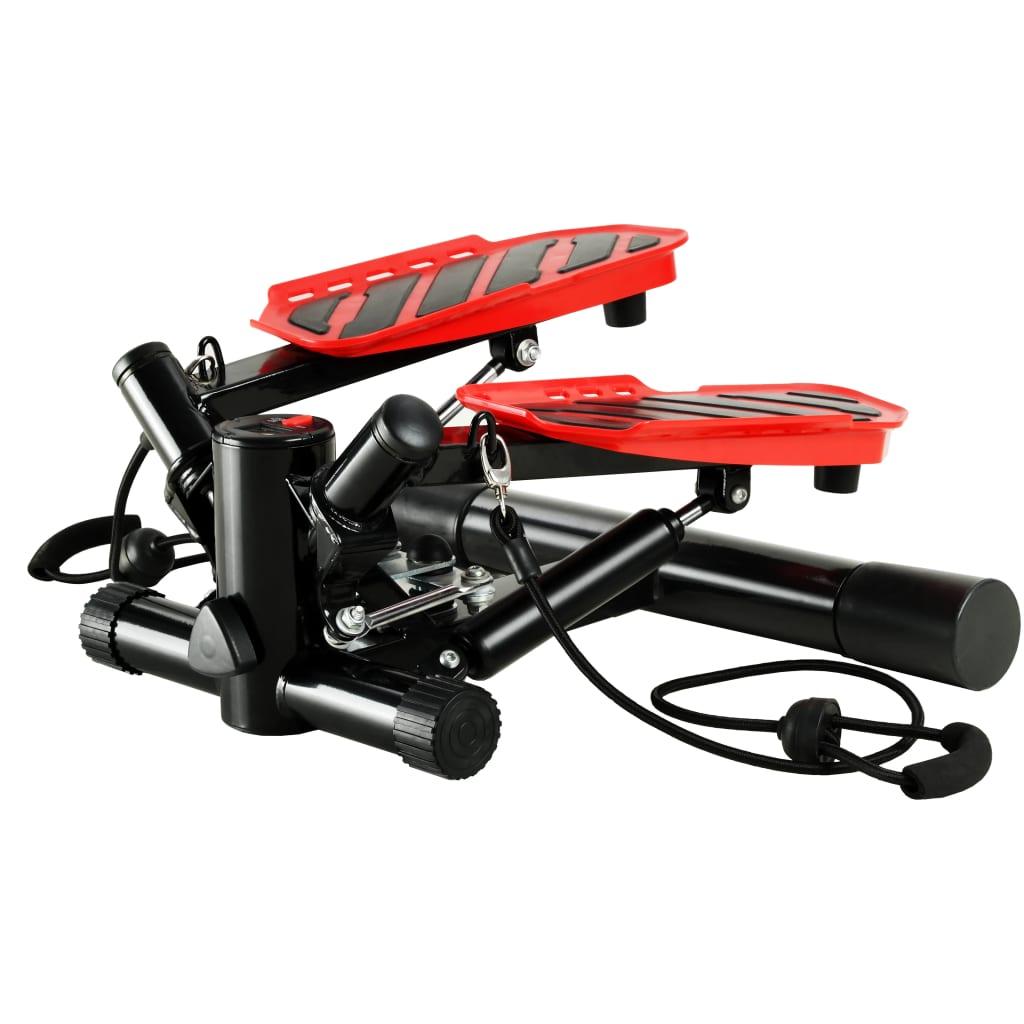 vidaXL Swing Stepper s odporovými lankami čierno-červený