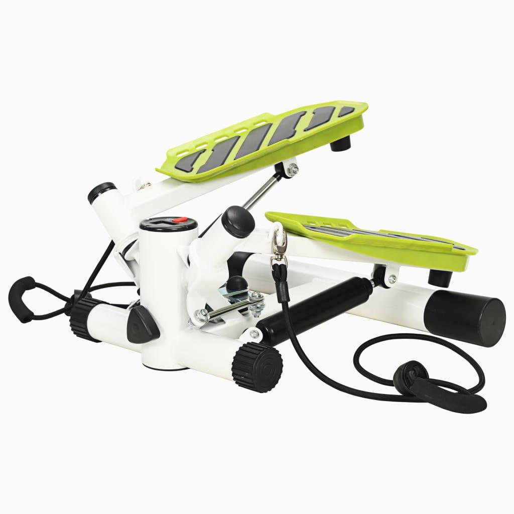 vidaXL Swing Stepper s odporovými lankami bielo-zelený