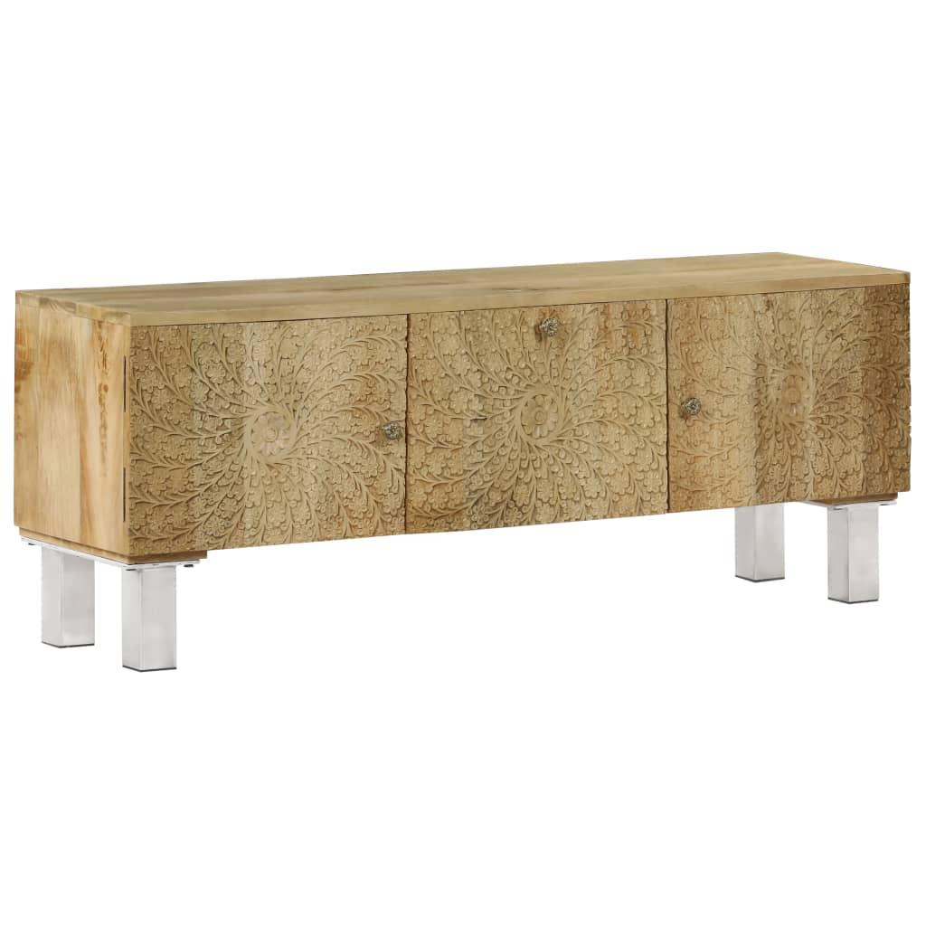 vidaXL TV skrinka z masívneho mangovníkového dreva 118x30x45 cm