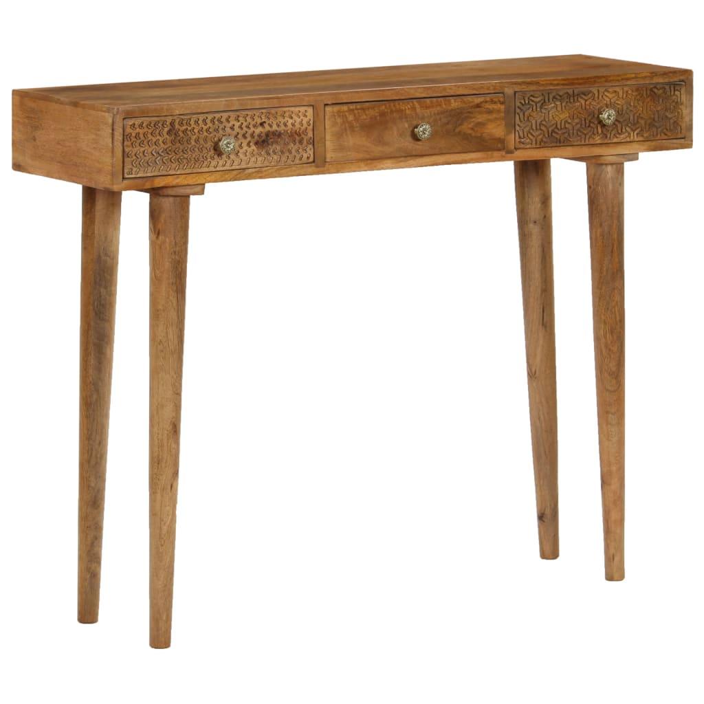 vidaXL Konzolový stolík z mangovníkového dreva 102x30x79 cm