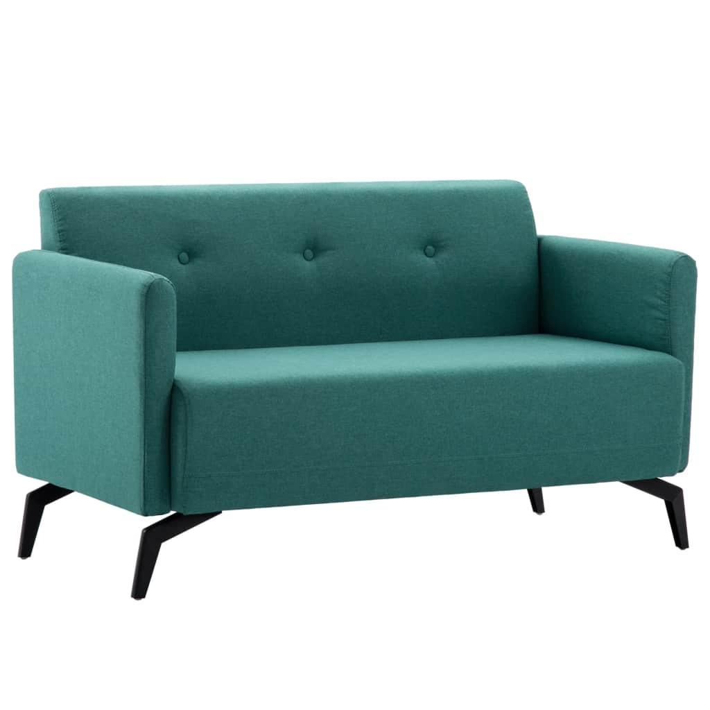 vidaXL Látková 2-miestna sedačka 115x60x67 cm zelená