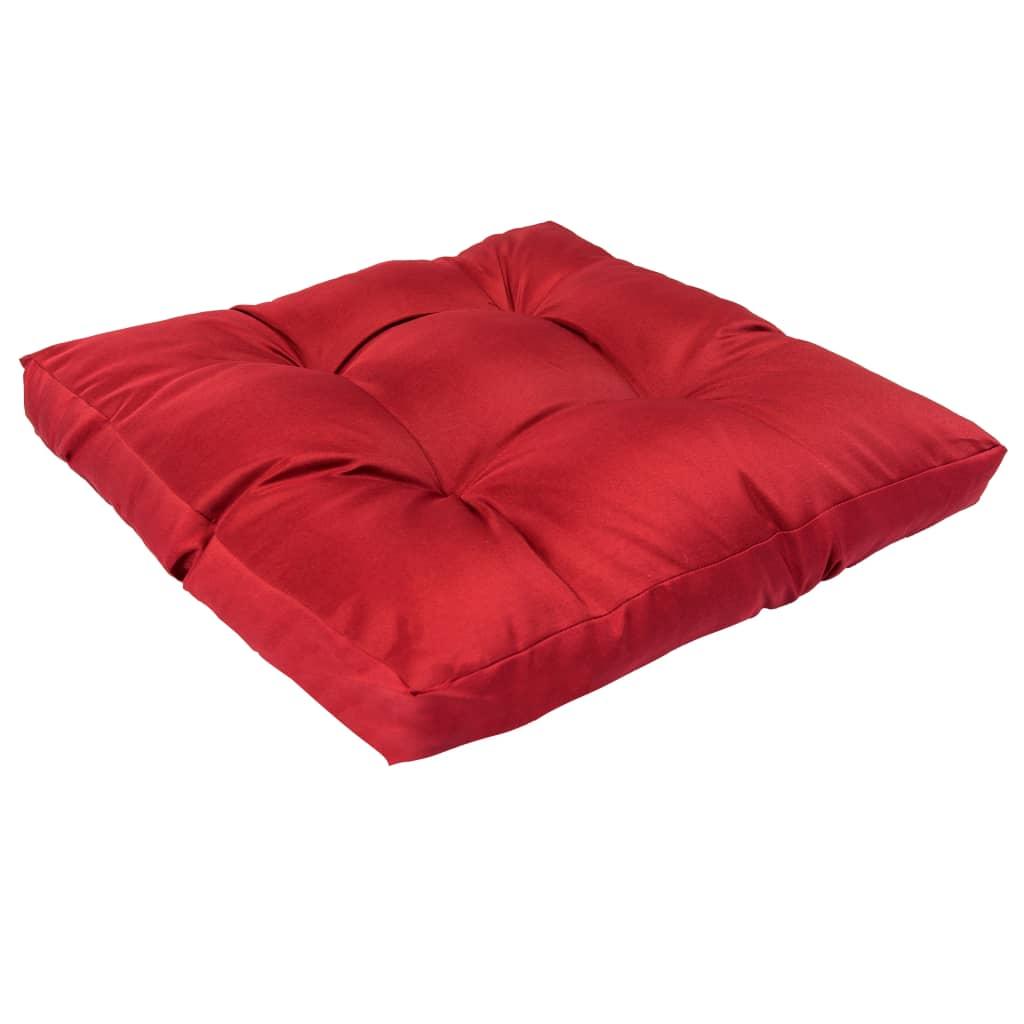 vidaXL Podložka na paletový nábytok červená 58x58x10 cm polyester