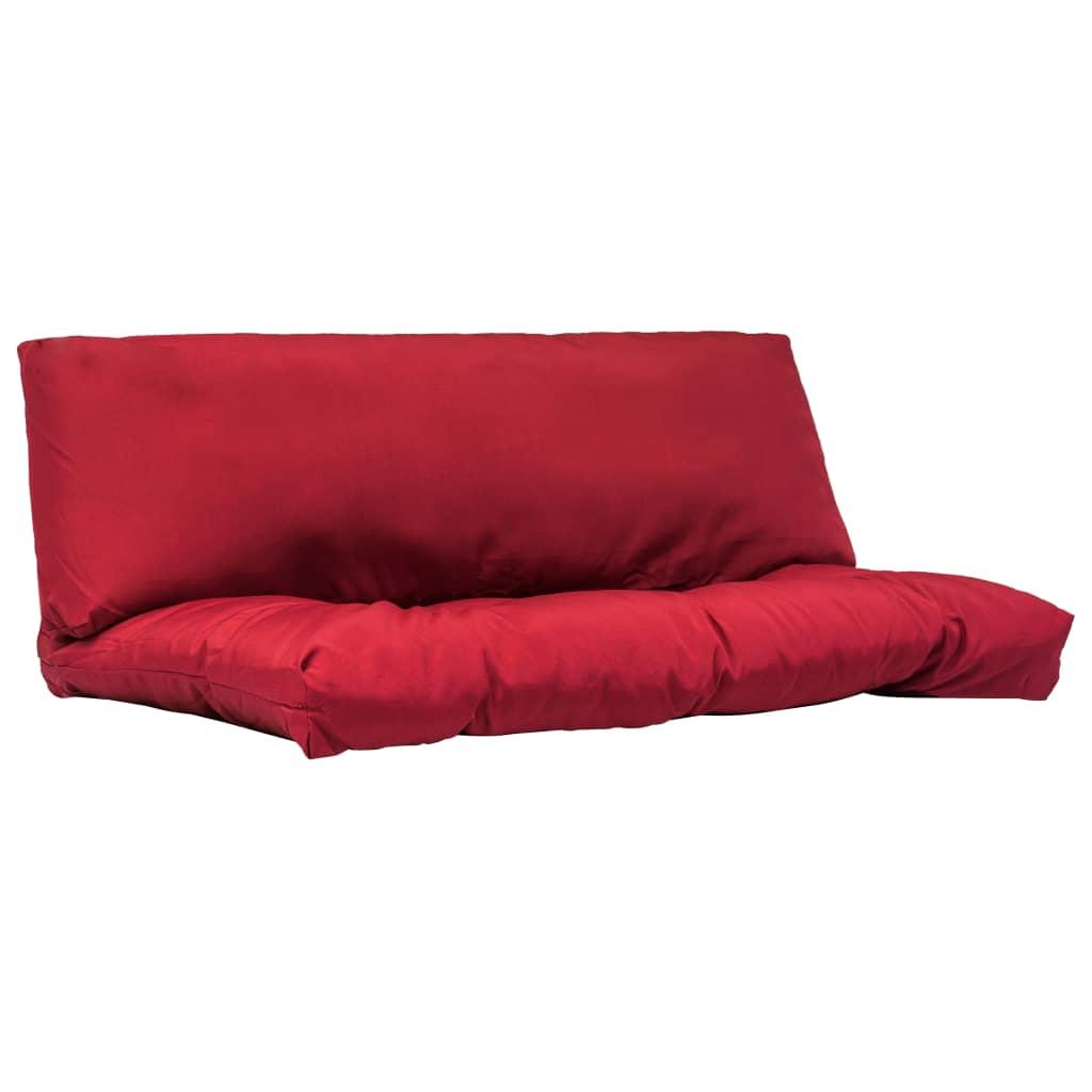 vidaXL Vankúše z polyesteru na paletový nábytok 2 ks červené