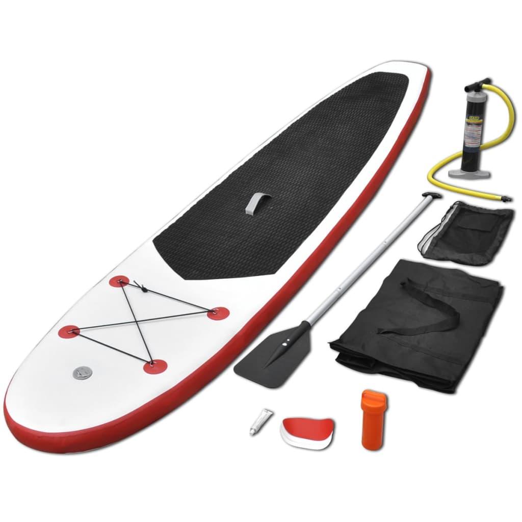 vidaXL Nafukovací Stand Up Paddleboard červeno-biely