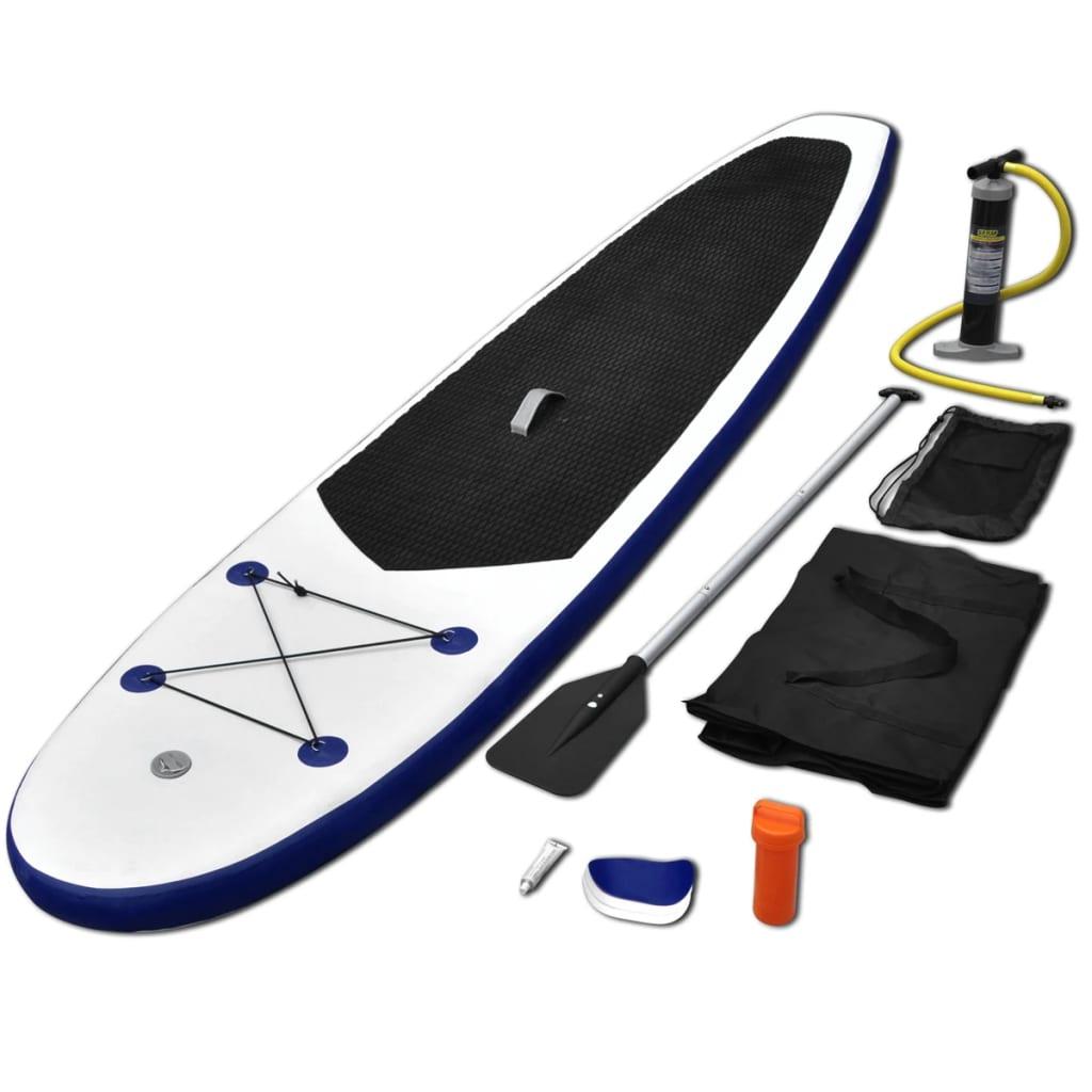 vidaXL Nafukovací Stand Up Paddleboard modro-biely
