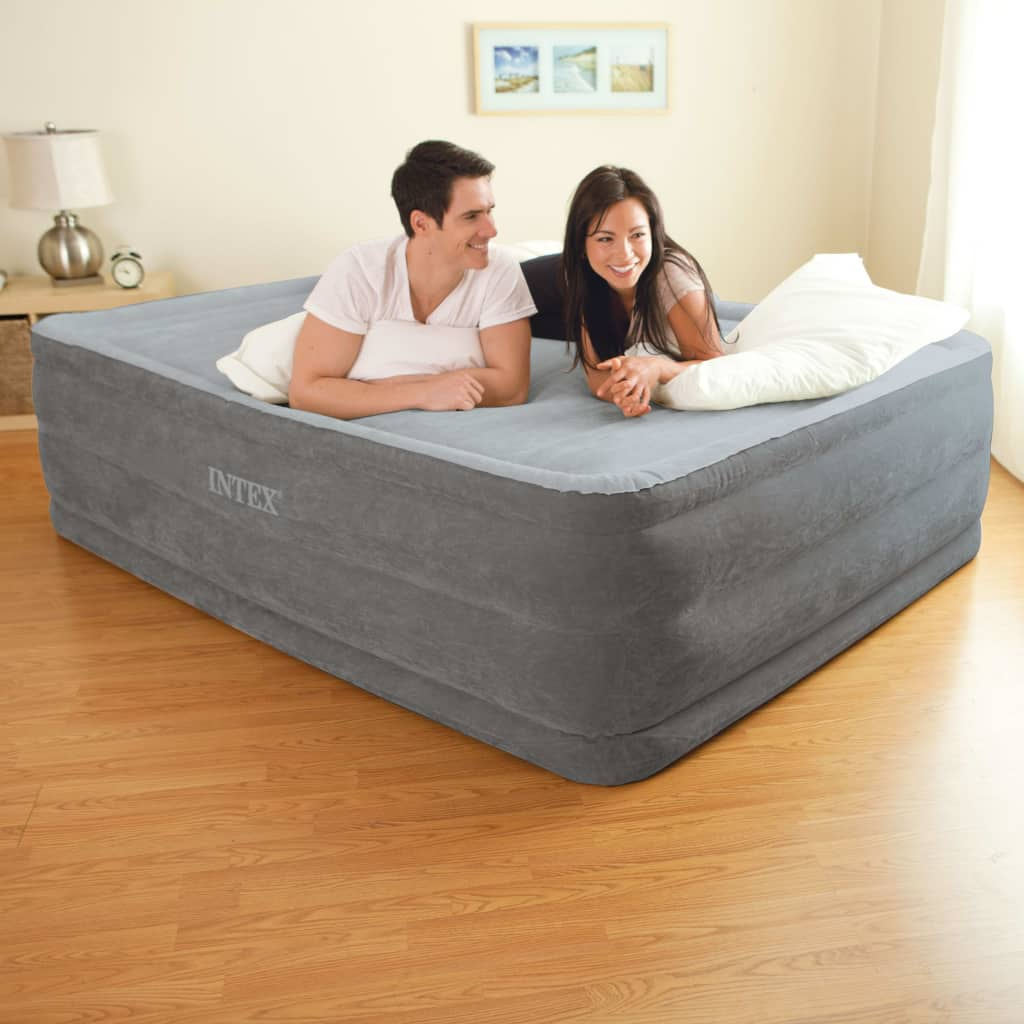 Intex Nafukovacia posteľ Comfort Plush High Rise Queen vstavaná pumpa