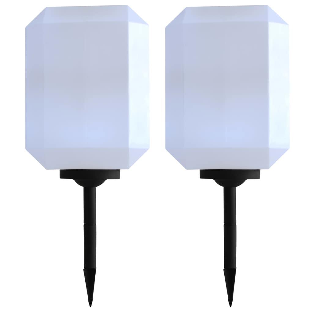 vidaXL Vonkajšie solárne lampy 2 ks biele 30 cm LED