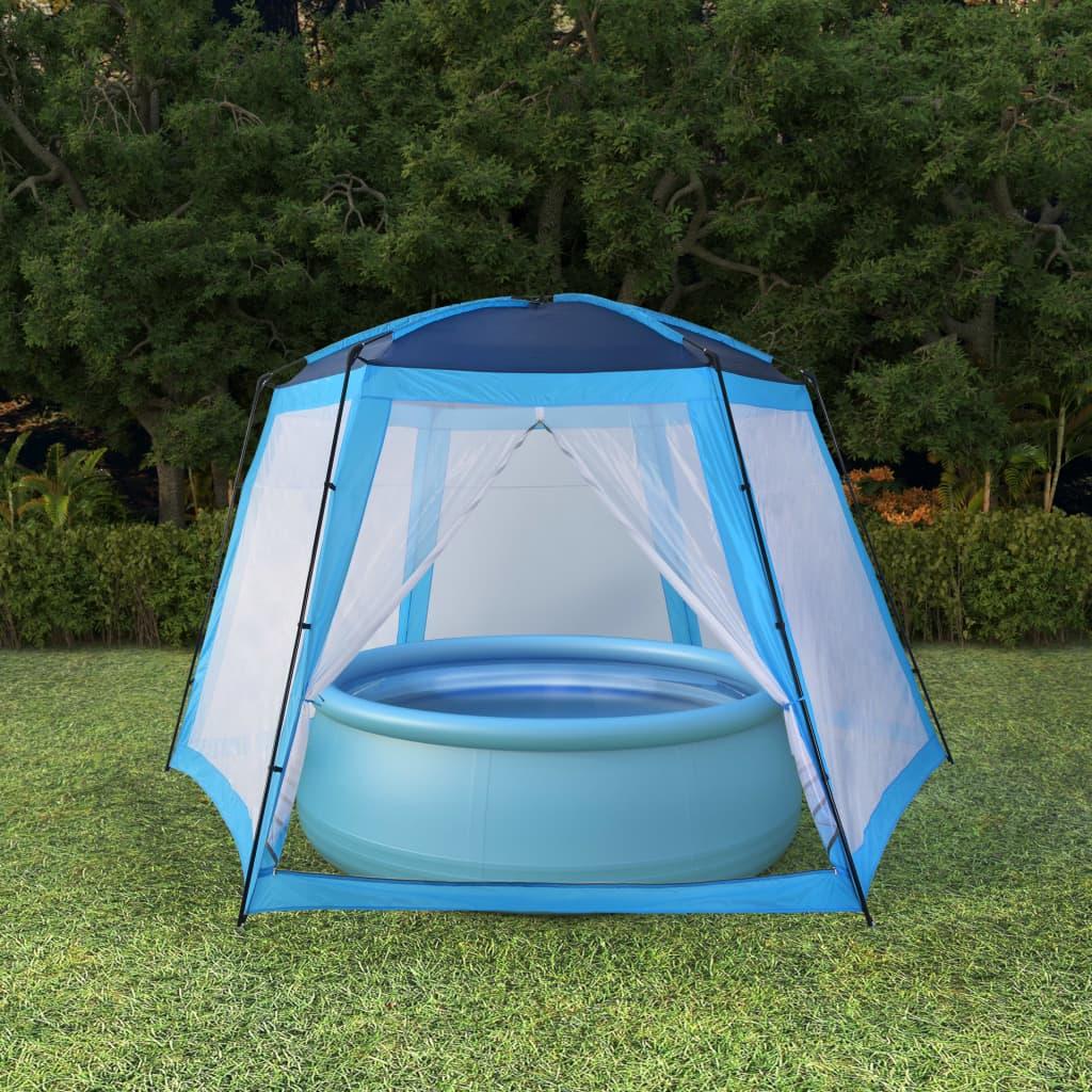 vidaXL Stan na bazén modrý 500x433x250cm látkový