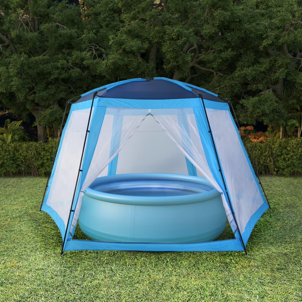 vidaXL Stan na bazén modrý 590x520x250 látkový