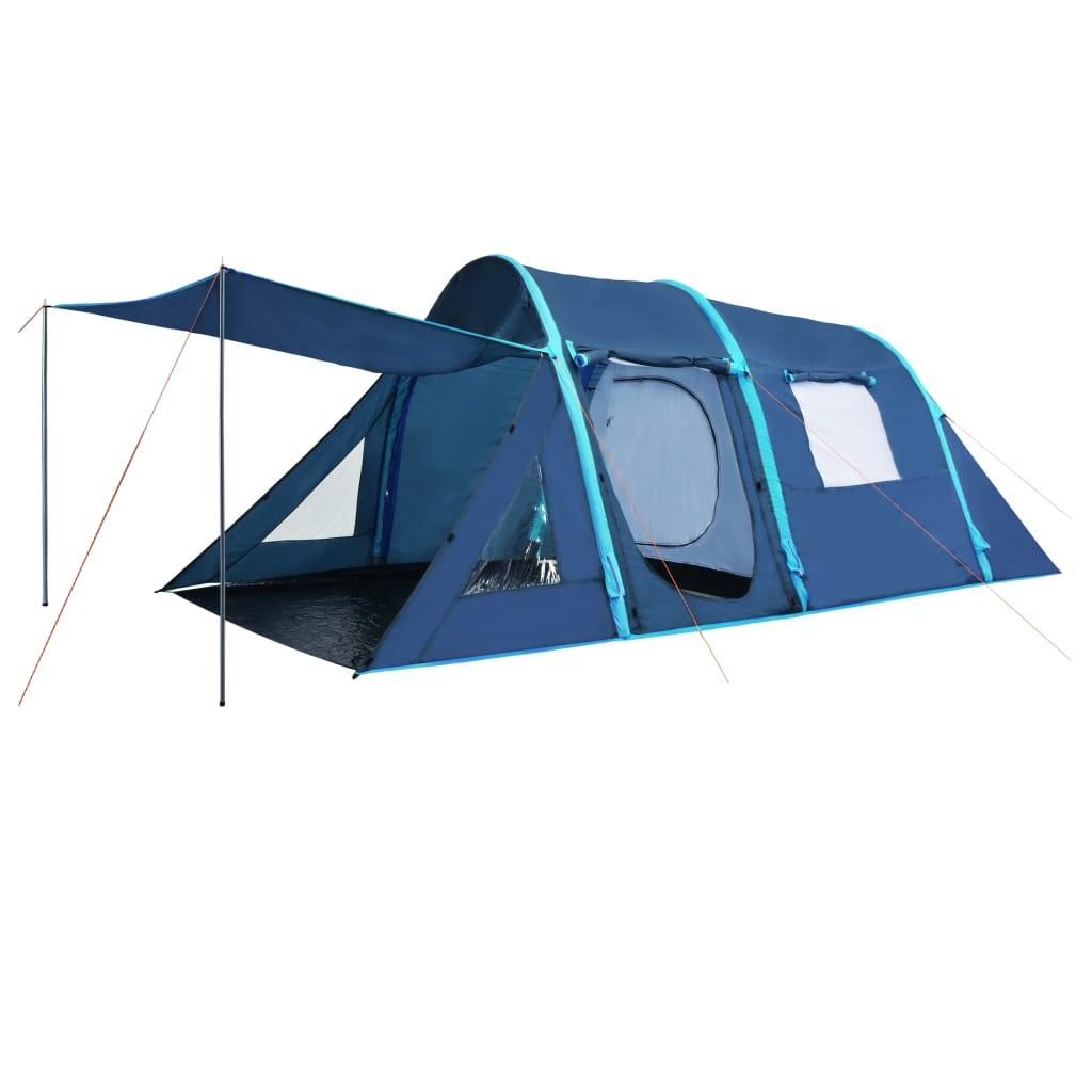 vidaXL Kempingový stan s nafukovacími stĺpikmi modrý 500x220x180 cm