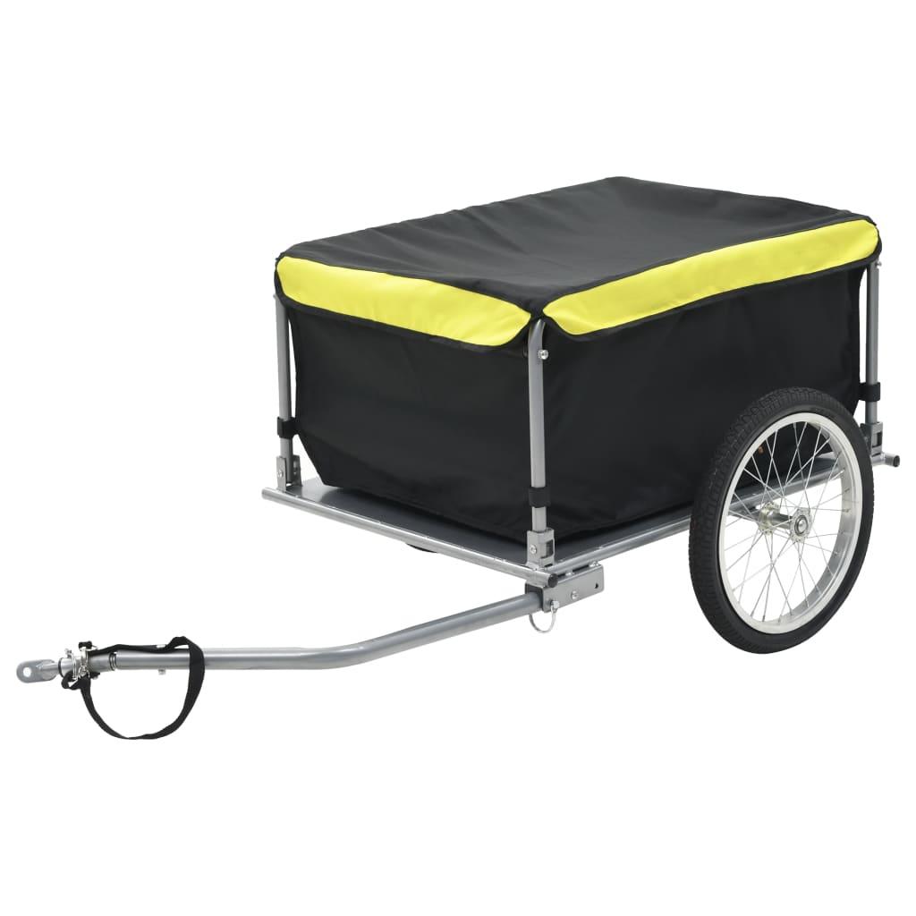 vidaXL Nákladný vozík za bicykel čierno-žltý 65 kg