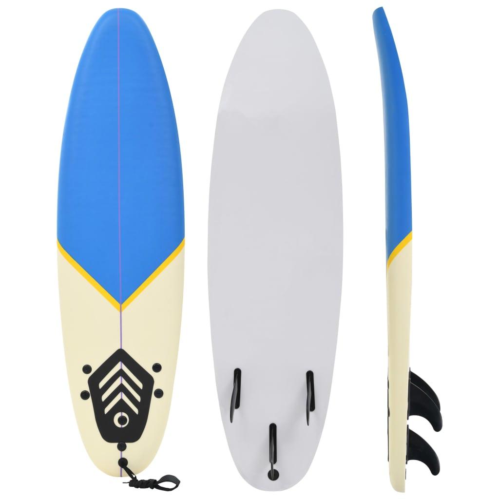 vidaXL Surfová doska 170 cm modrá a krémová