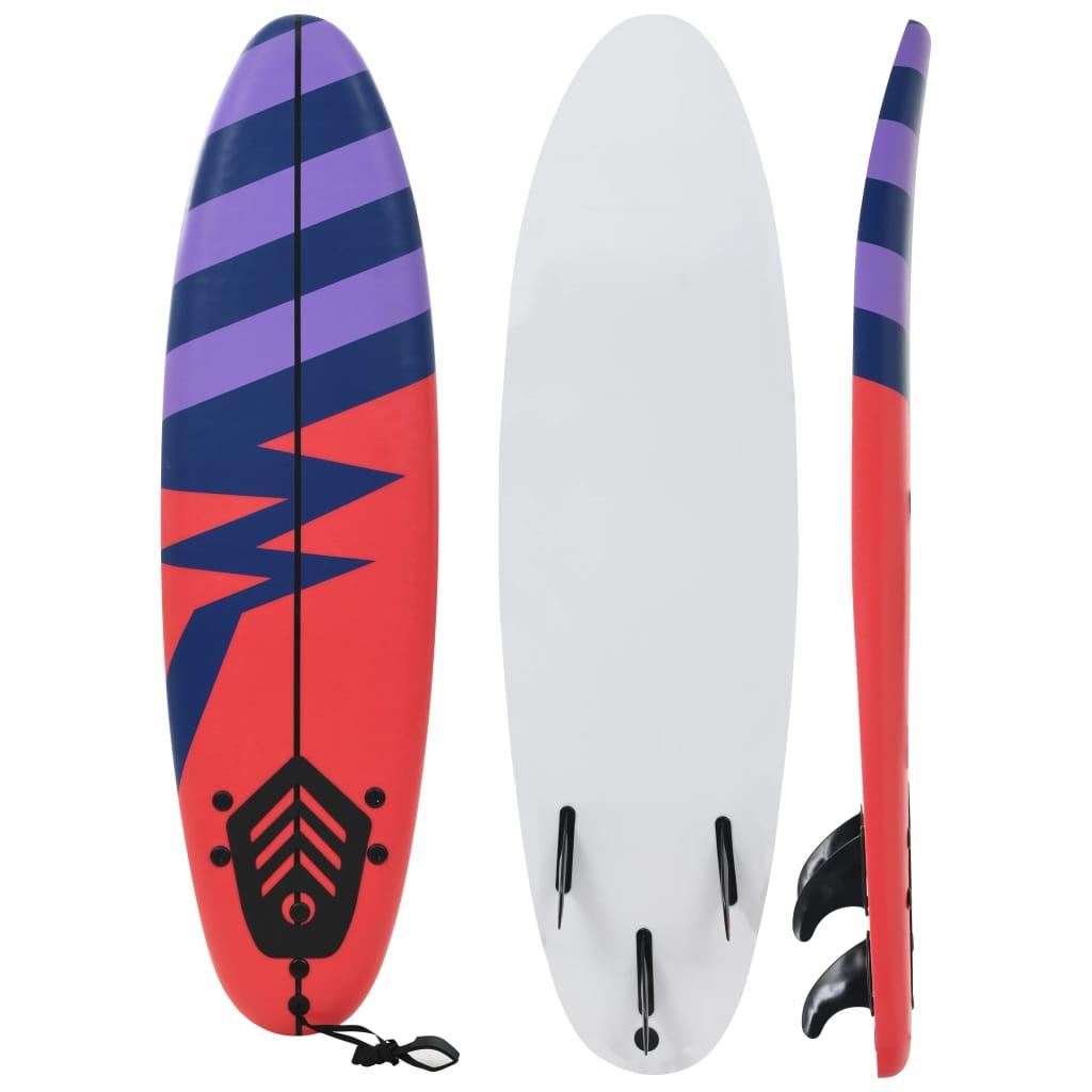 vidaXL Surfová doska 170 cm pruhovaná