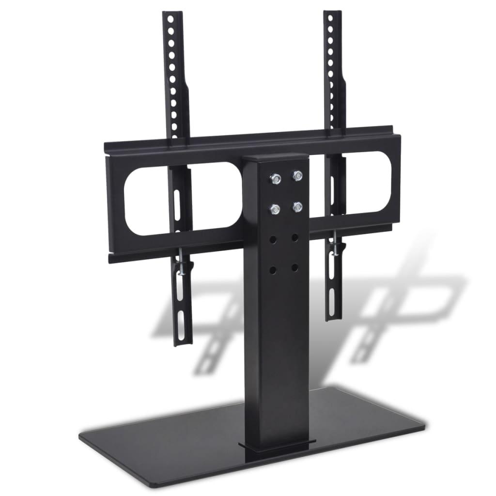 vidaXL Držiak na TV so základňou, železo, čierny 23