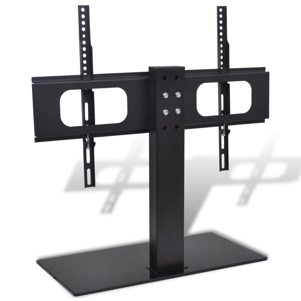 vidaXL Držiak na TV so základňou, železo, čierny 32