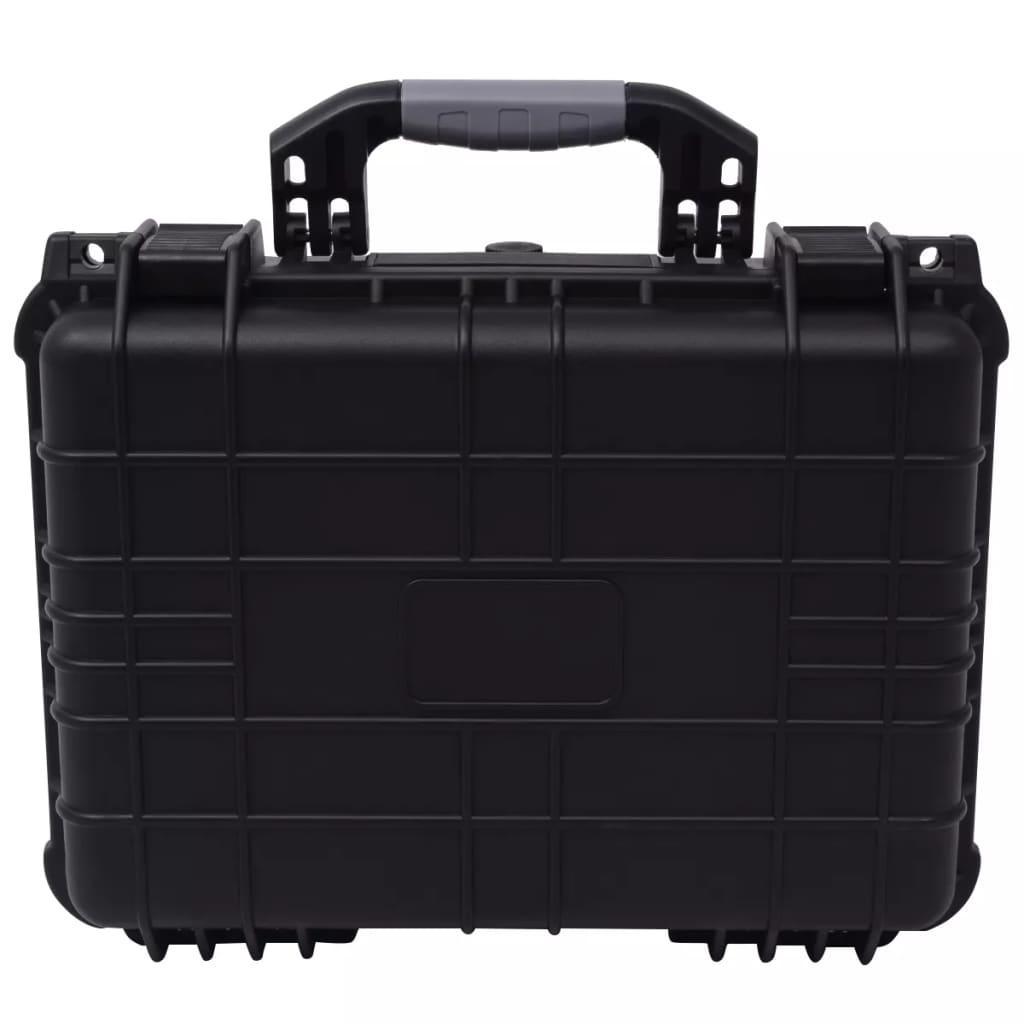 vidaXL Ochranný kufrík na náradie, čierny 40,6x33x17,4 cm