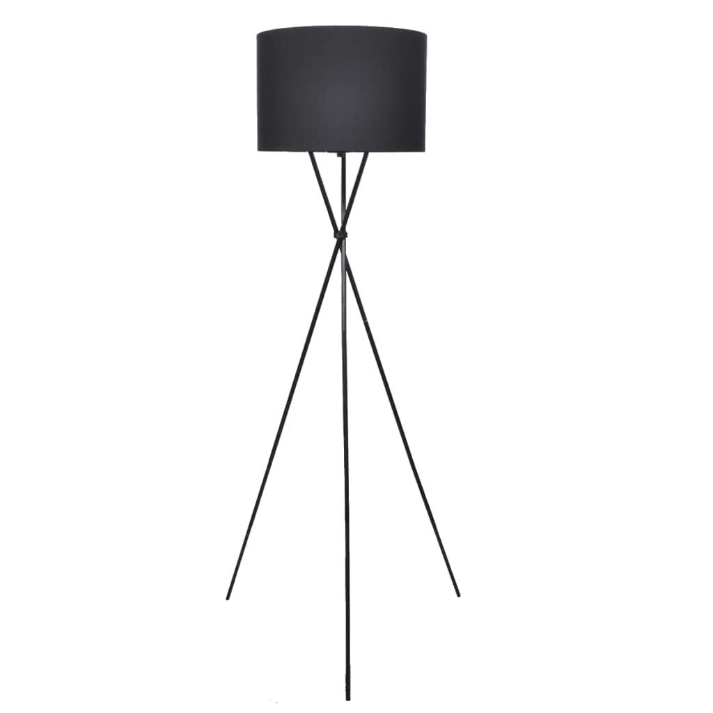 vidaXL Stojanová lampa, čierna 139 cm