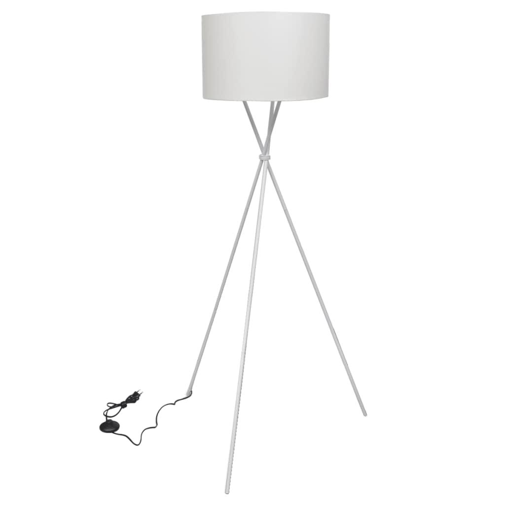 vidaXL Stojanová lampa, biela 139 cm