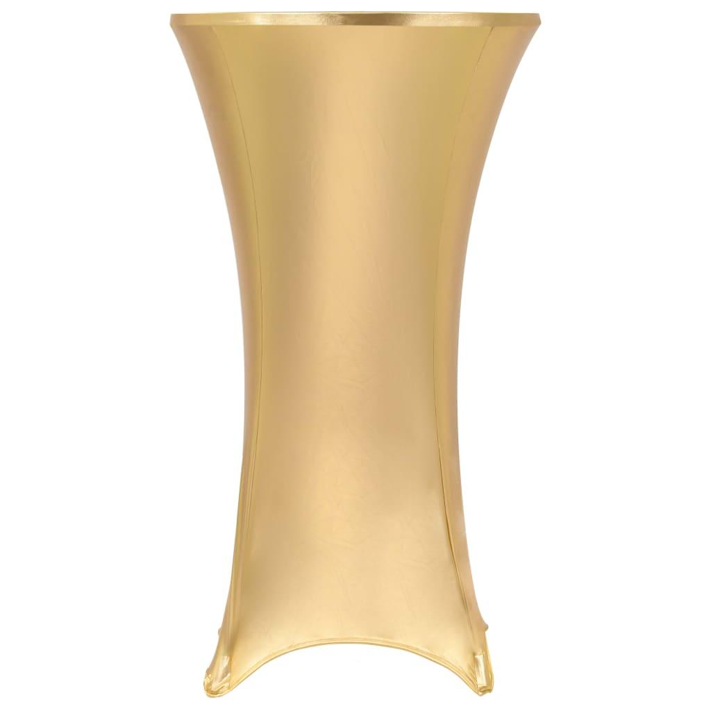 vidaXL Obrusy na stôl 2 ks zlaté 80 cm naťahovacie