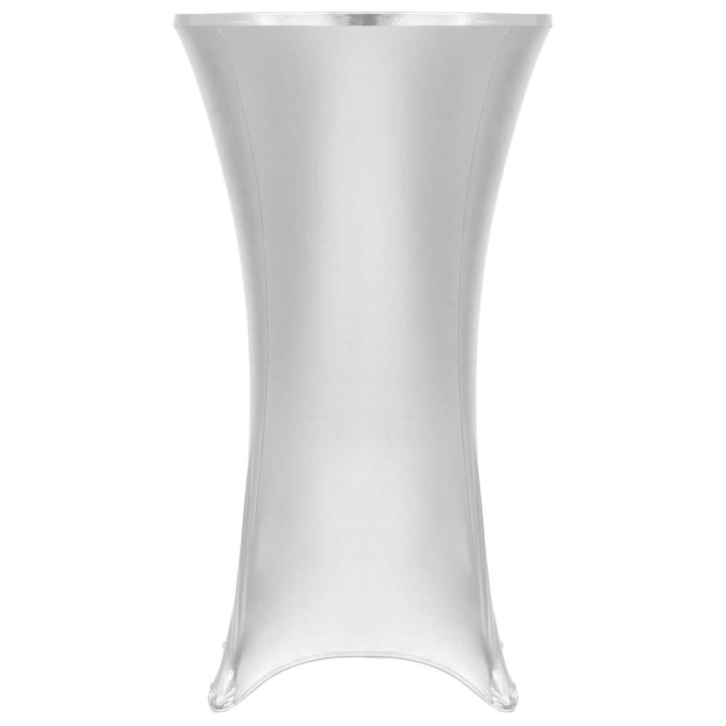 vidaXL Obrusy na stôl 2 ks strieborné 70 cm naťahovacie
