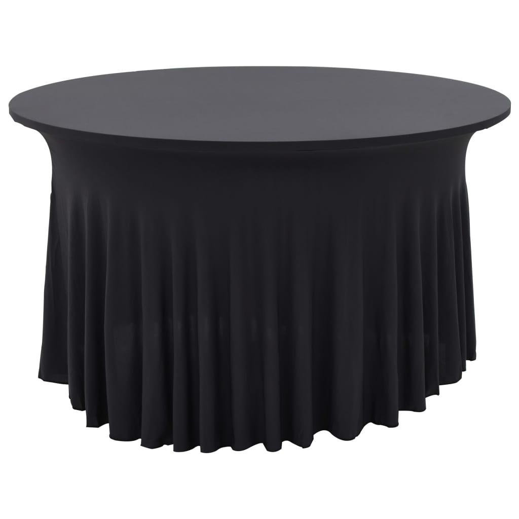 vidaXL Naťahovacie obrusy na stôl so závesom 2 ks antracitové 120x74 cm