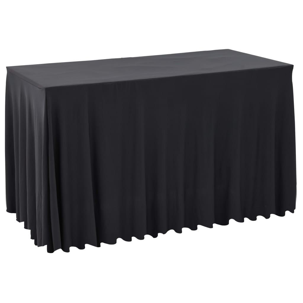 vidaXL Naťahovacie obrusy na stôl so závesom 2 ks antracitové 243x76x74 cm