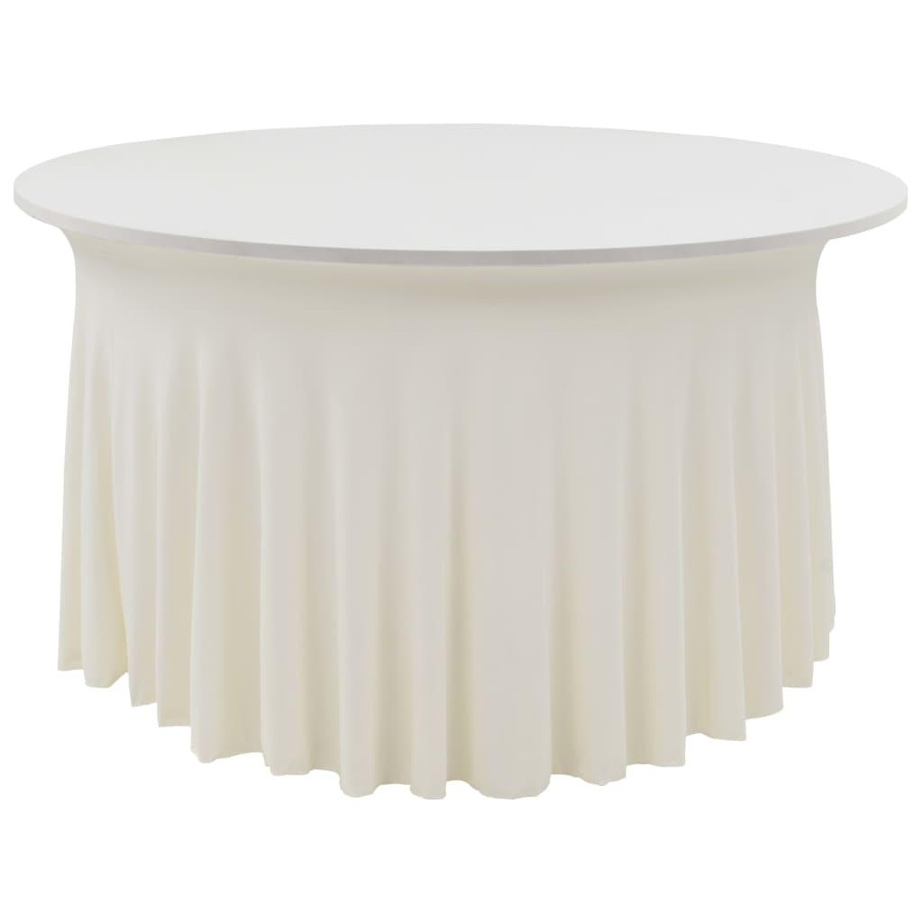 vidaXL Naťahovacie obrusy na stôl so závesom 2 ks krémové 180x74 cm