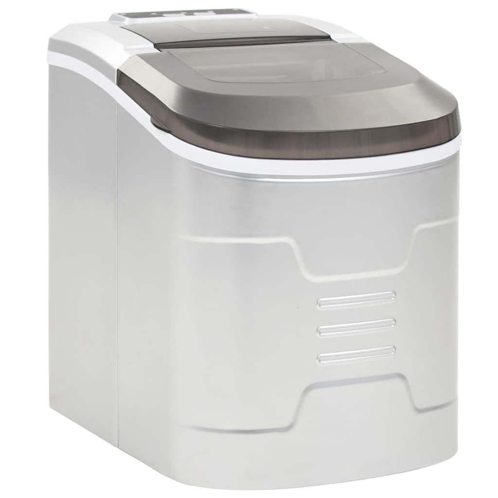 vidaXL Výrobník ľadových kociek strieborný 2,4 l 15 kg / 24 h