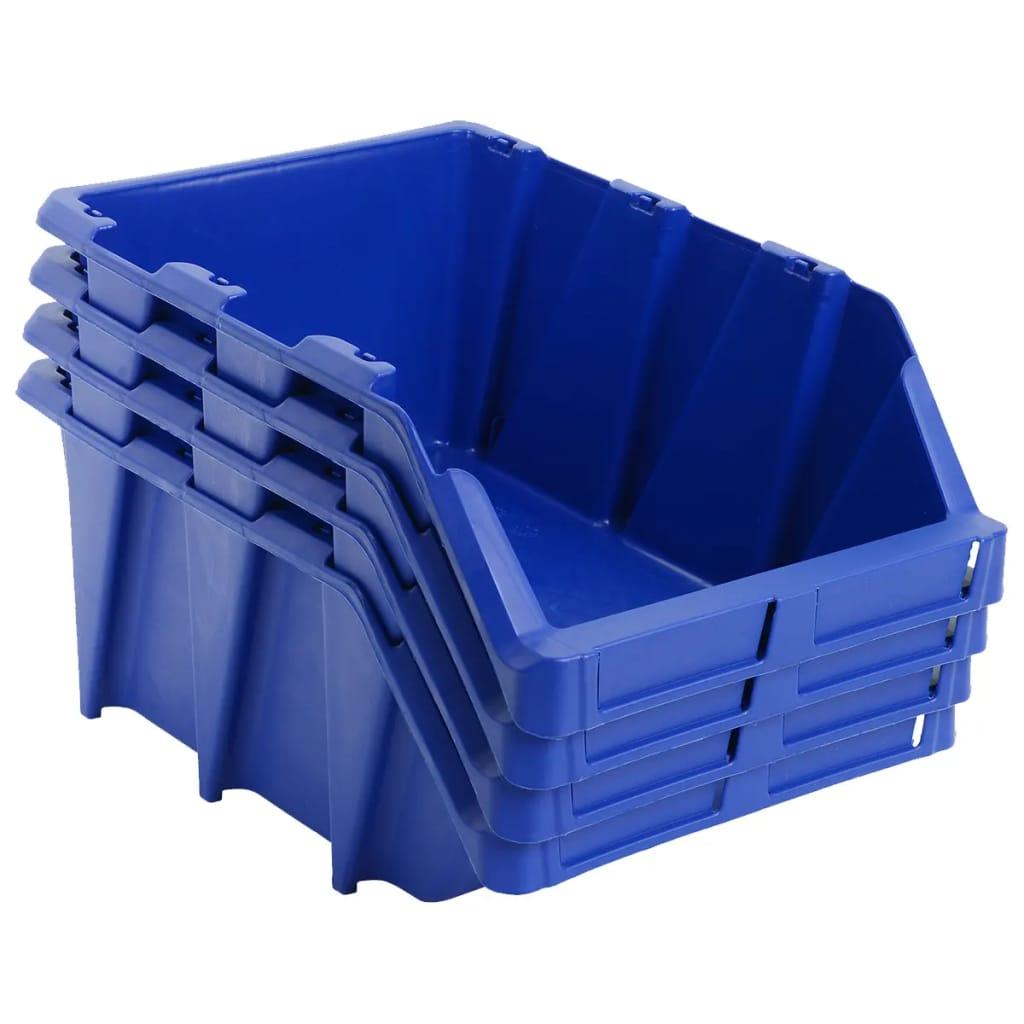 vidaXL Stohovateľné úložné boxy 35 ks, 218x360x156 mm, modré