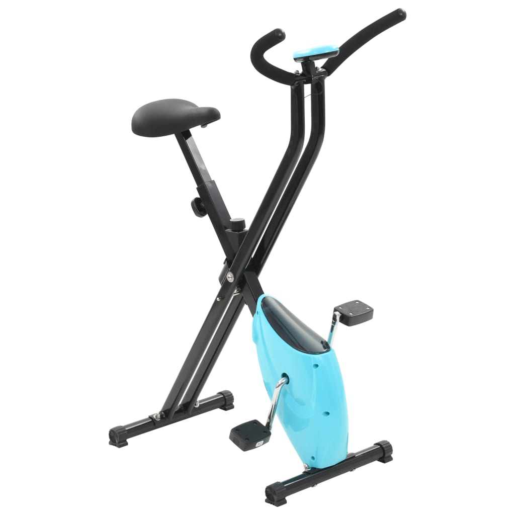 vidaXL Rotopéd X-Bike s remeňovým pohonom modrý