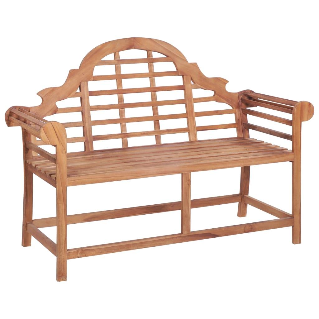 vidaXL Záhradná lavička 136x63x102 cm teakový masív