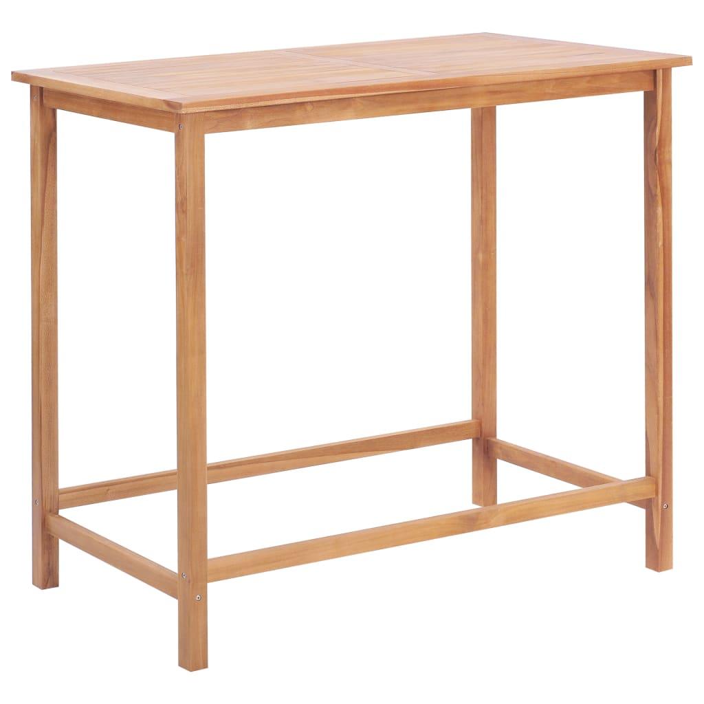 vidaXL Záhradný barový stôl 120x65x110 cm masívne teakové drevo