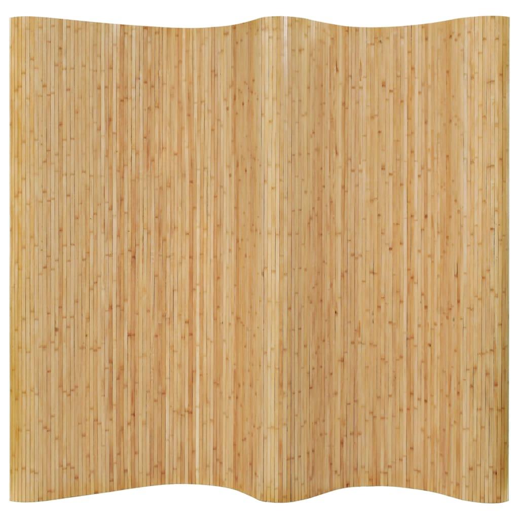 vidaXL Paraván z bambusu 250x195 cm prírodný