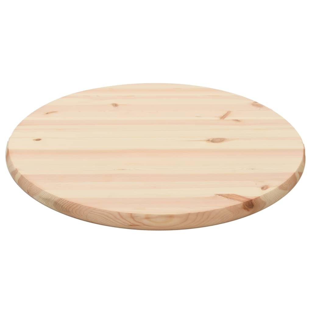 vidaXL Stolová doska z borovicového dreva okrúhla 28 mm 60 cm