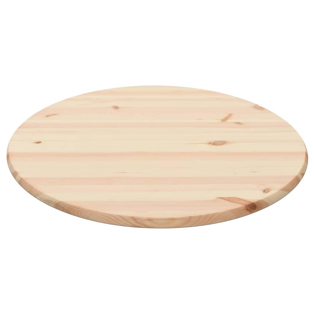 vidaXL Stolová doska prírodné borovicové drevo okrúhla 28 mm 80 cm